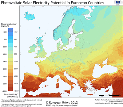 Photovoltaic Geographical Information System (PVGIS), EU-JRC
