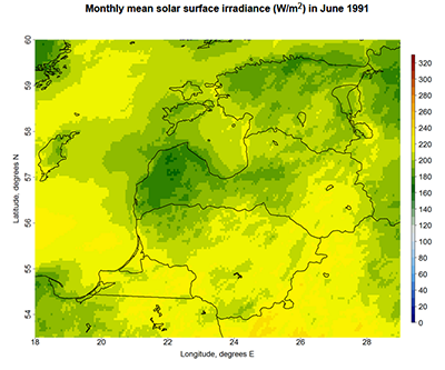 Solar Atlas for the Baltic Region
