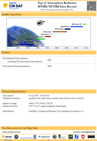 ATOVS tropospheric humidity and temperature data set 2/2