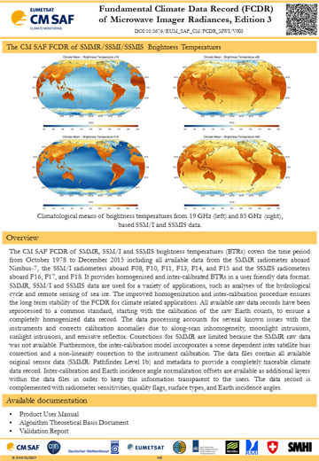 Fundamental Climate Data Record (FCDR) of Microwave Imager Radiances, Edition 3