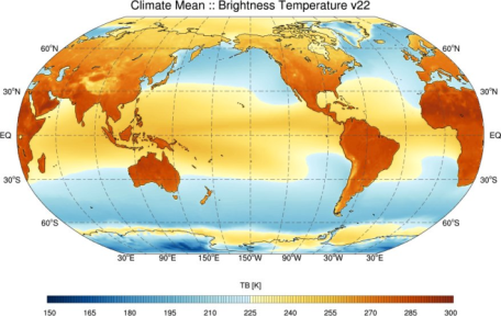 BTR climate mean 1992-2008 (refer to: 3rd Edition of Fundamental Climate Data Record of Microwave Imager Radiances released)